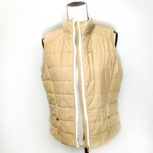 Ralph Lauren | Puffy Vest Large Tan Gold White
